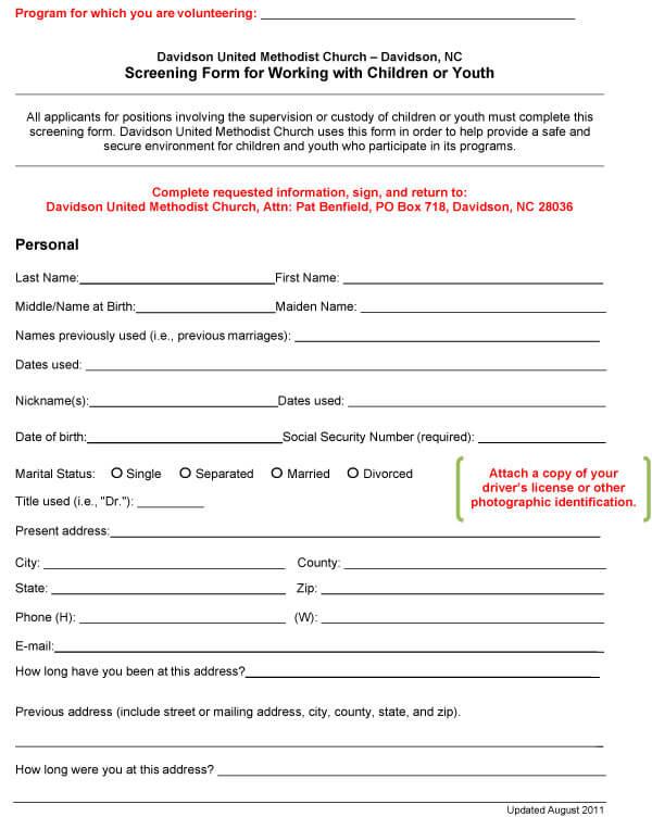 Background Check Form Sample 05