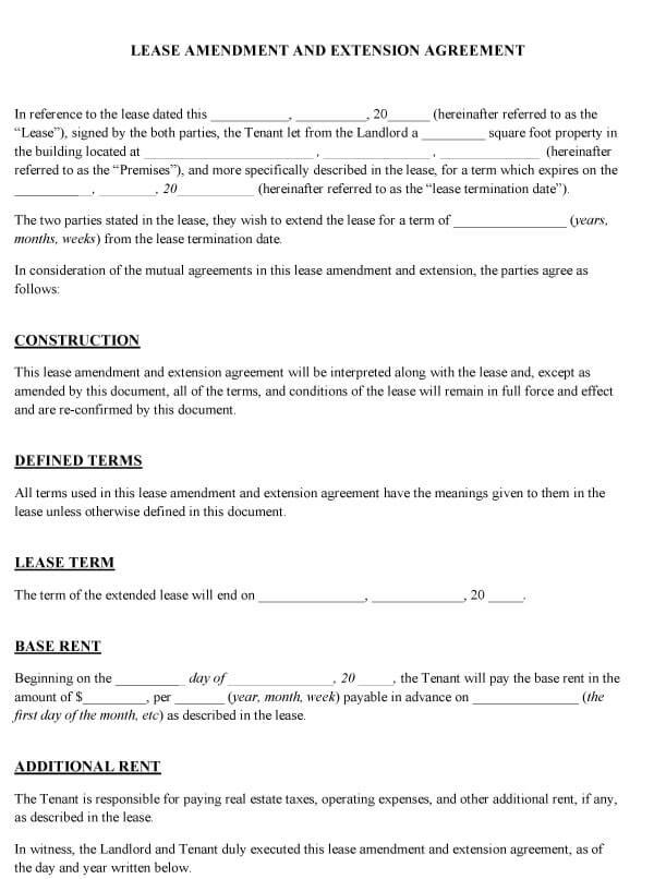 Amendment To Add Tenant Sample 06
