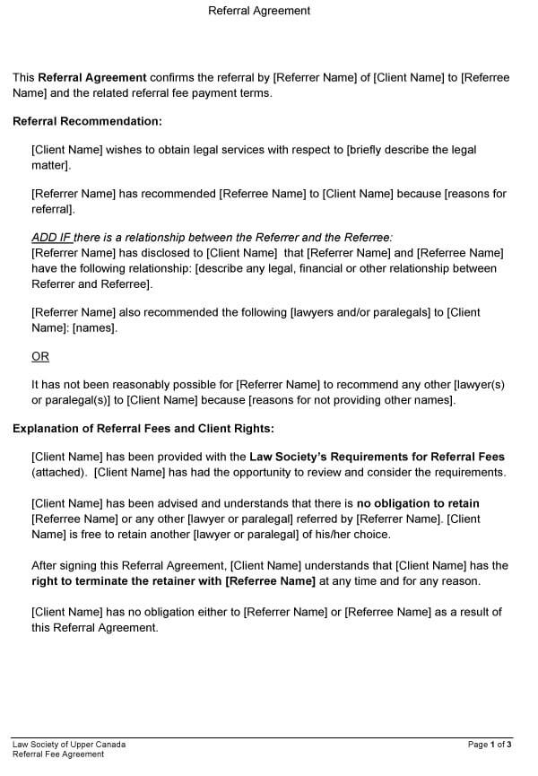 Attorney Referral Agreement 07
