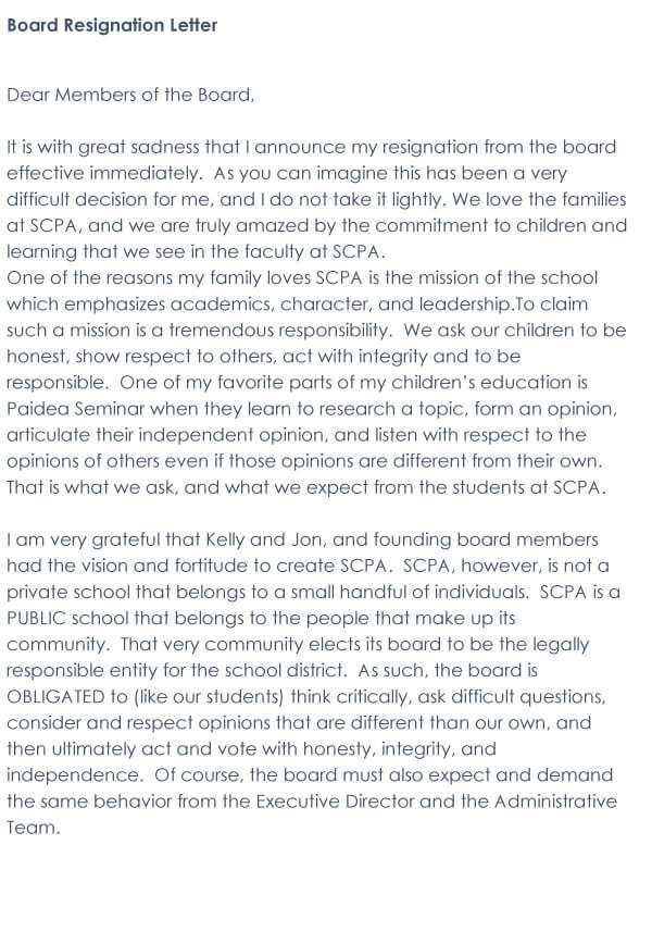 Board Resignation Letter 05