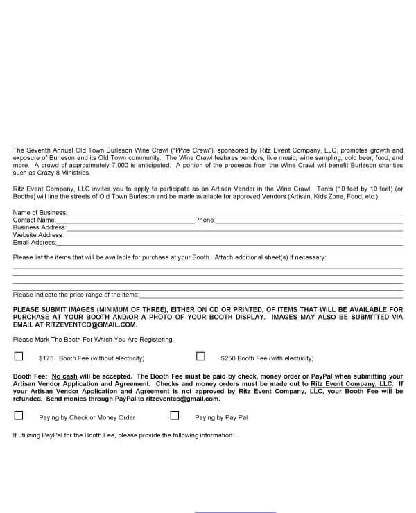 Booth Salon Rental Agreement Format 3 1