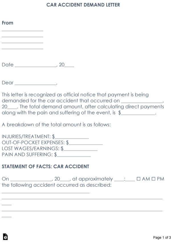 Car Accident Demand Letter 09
