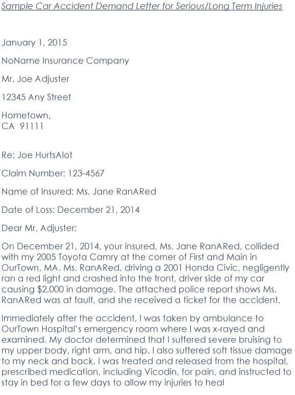 Car Accident Demand Letter 05
