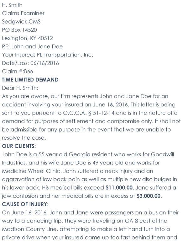 Car Accident Demand Letter 06