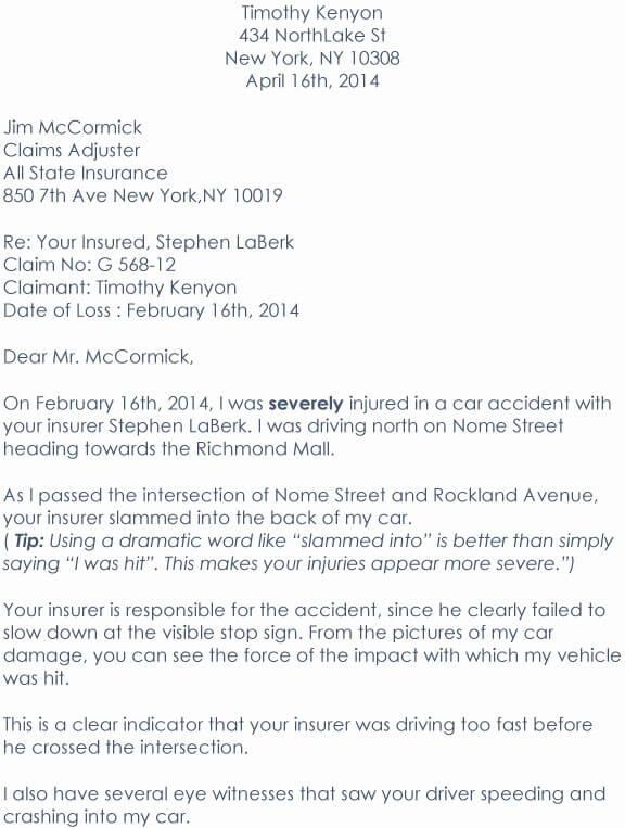 Car Accident Demand Letter 08