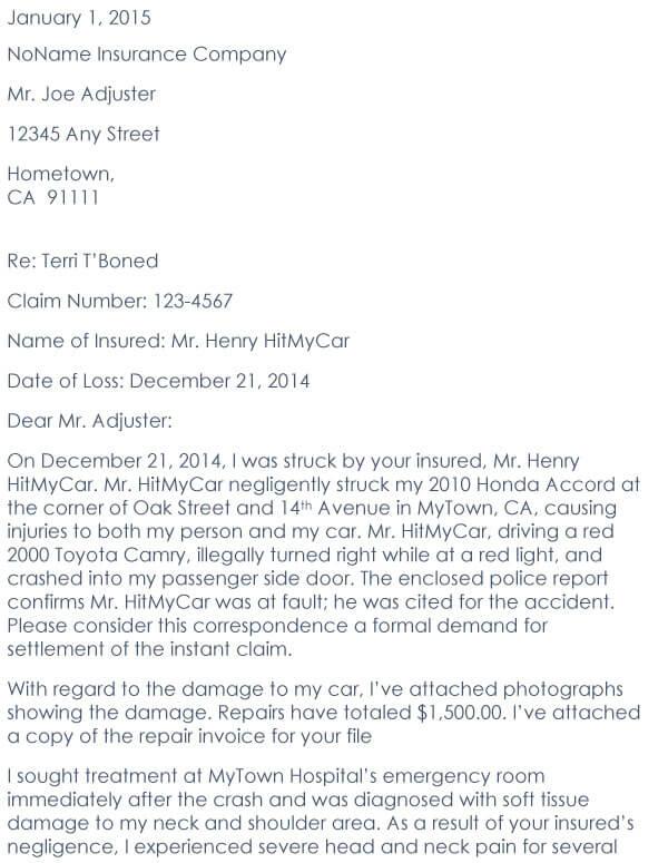 Car Accident Demand Letter 10