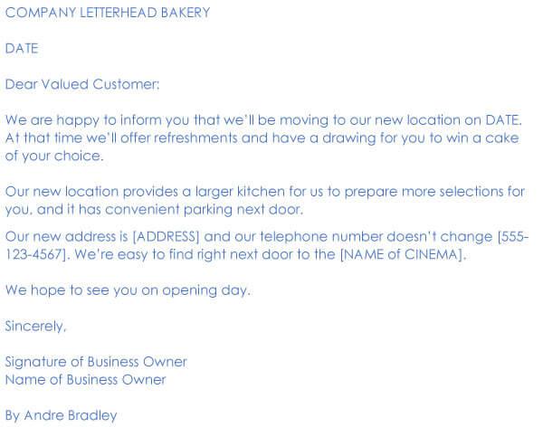 Change Of Address Request Letter Sample 07