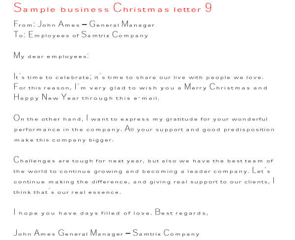 Christmas Letter Sample 05