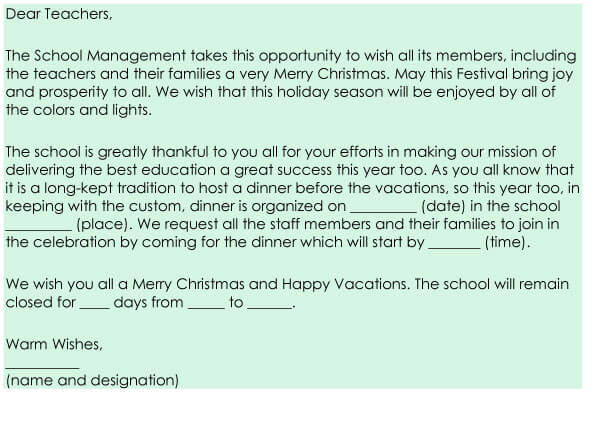Christmas Letter Sample 08
