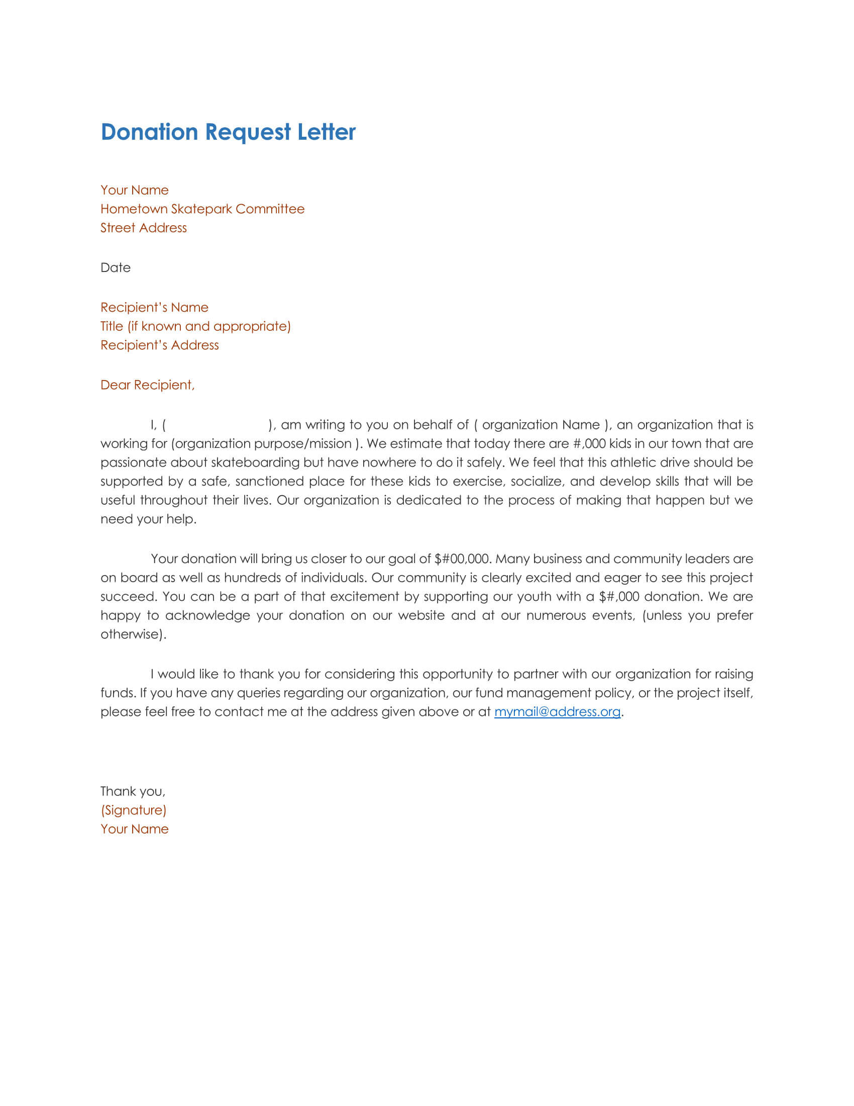 Donation Request Letter 06