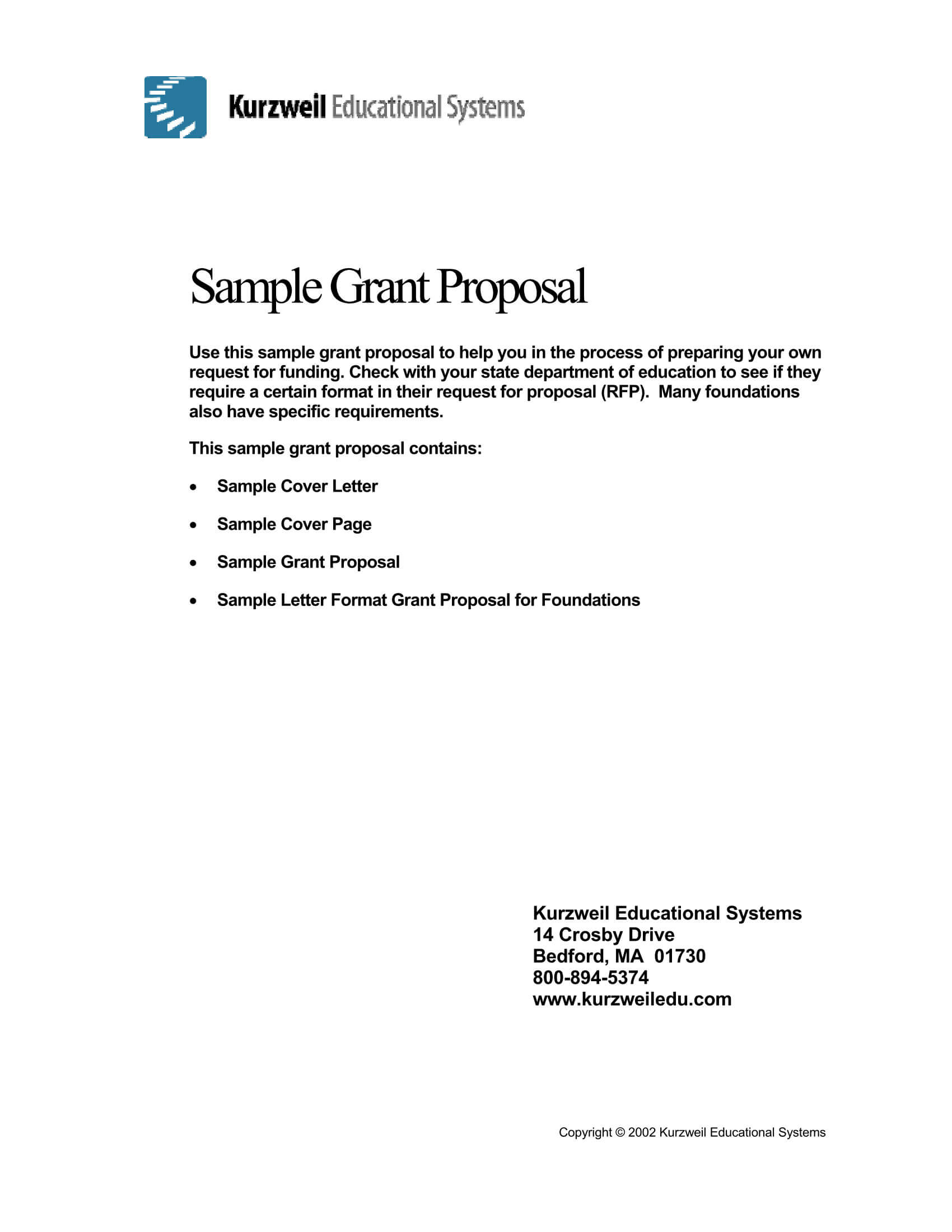 Grant Request Letter Sample 04