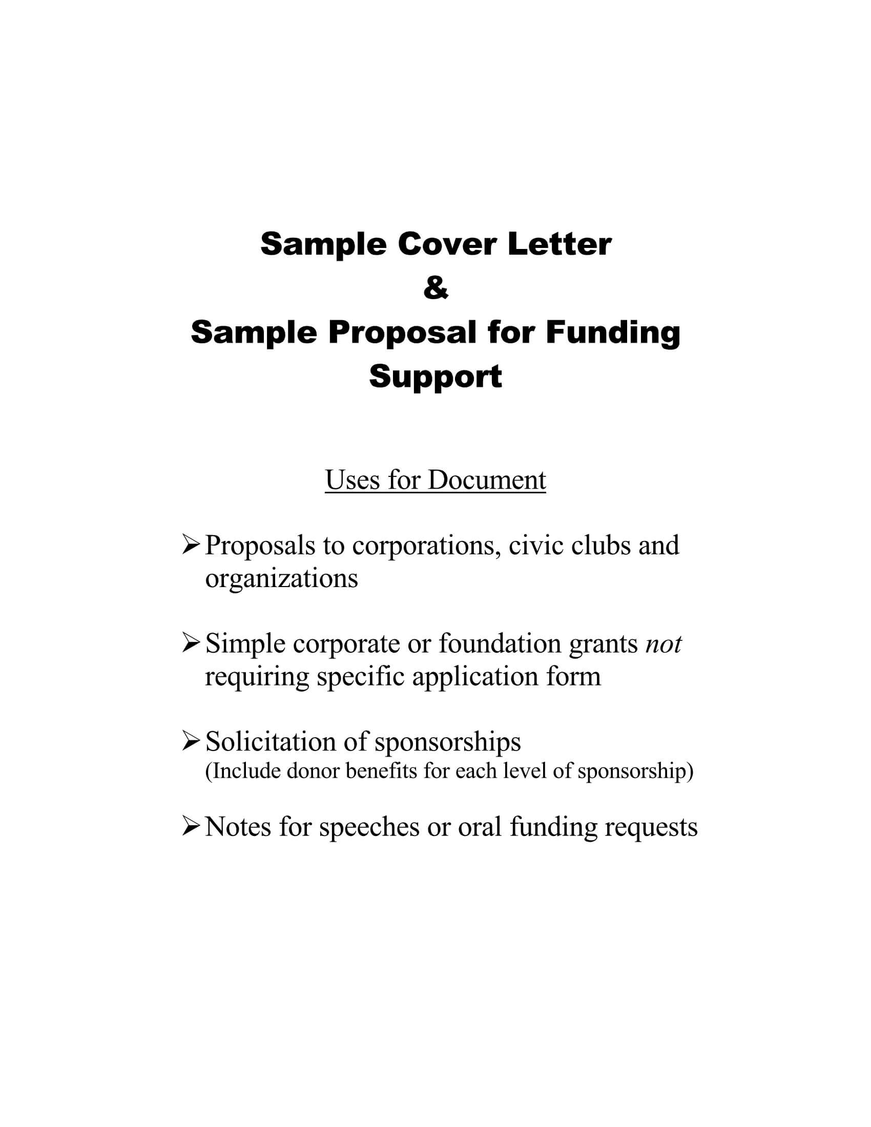Grant Request Letter Sample 09