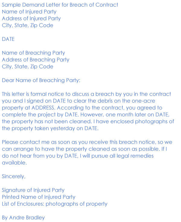 Breach Of Contract Sample 13