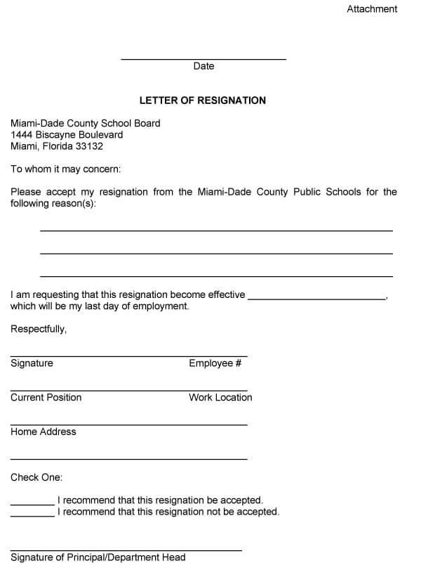 Board Resignation Letter Sample 13