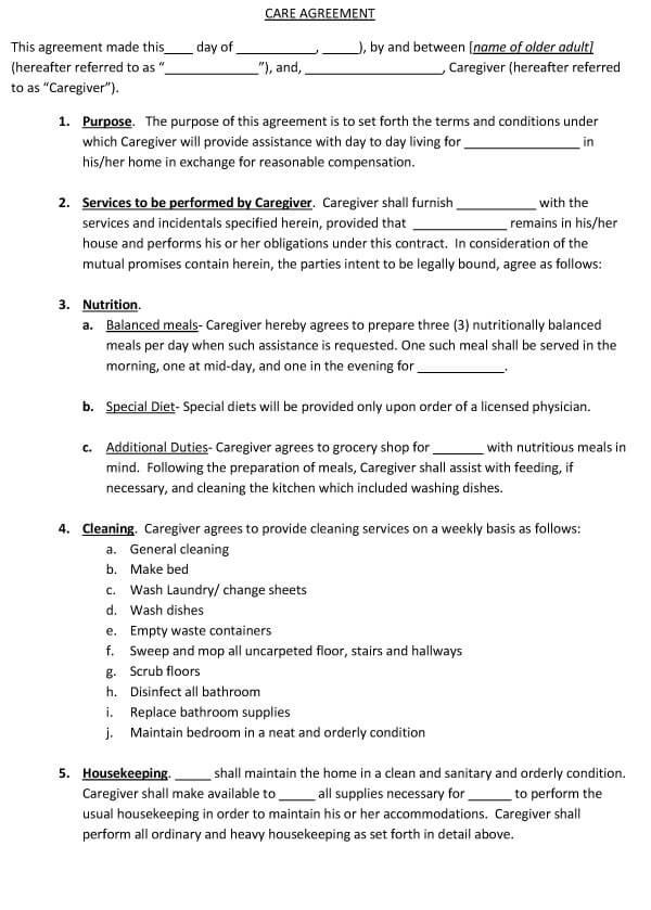 Caregiver Agreement 03