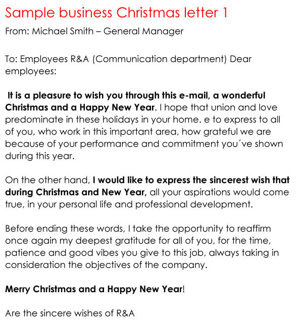 Christmas Letter Sample 13