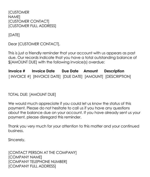 Debt Collection Letter Sample 10