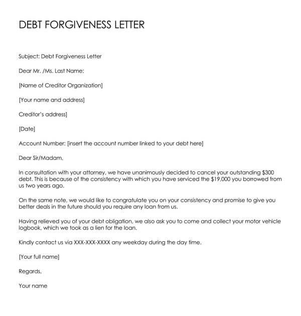 Debt-Forgiveness-Letter-(Email-Format)