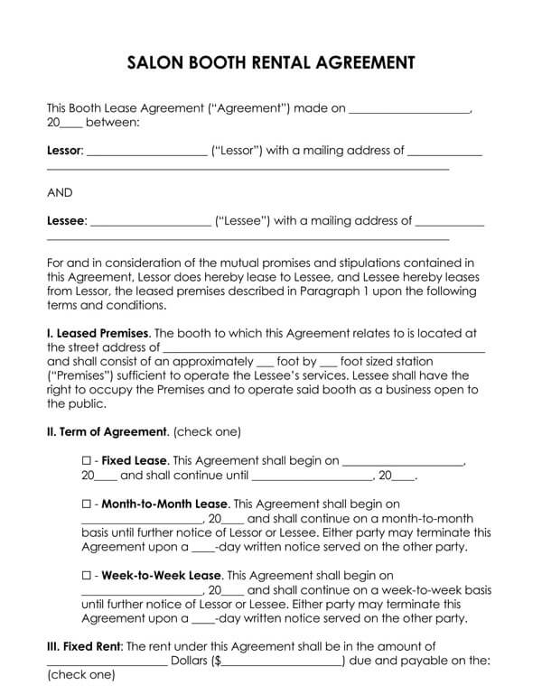 Commercial Lease Agreement Sample 02