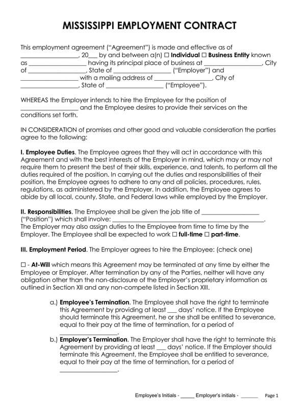 Mississippi-Employment-Contract_