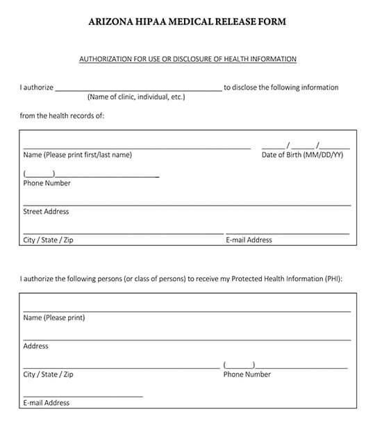 general release of information form pdf