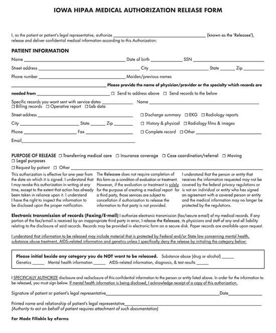 free printable hipaa forms 01