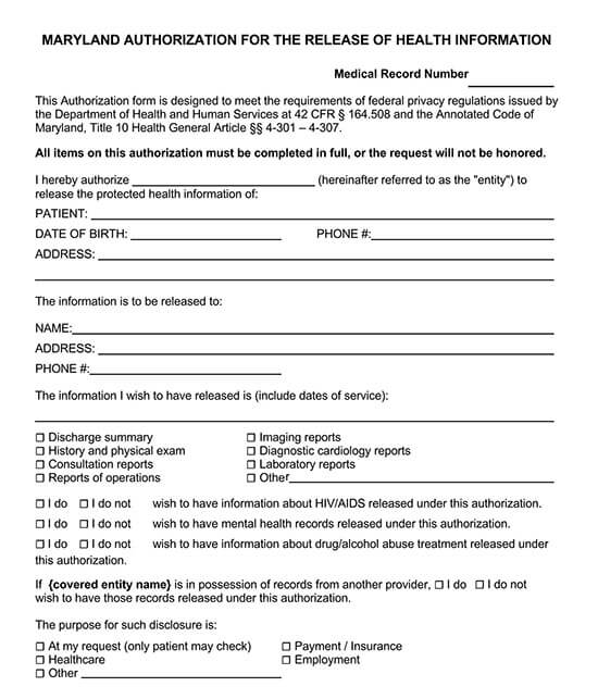 authorization to release medical records to third party 02