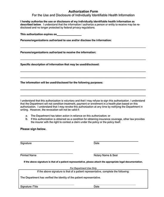 authorization to release medical records letter 03