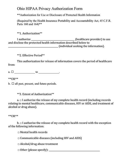 printable blank medical records release form 04