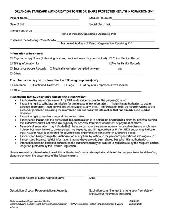 authorization to release medical records to third party 04