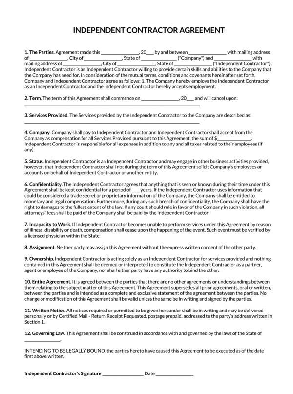 1-Page-Independent-Contractor-Agreement_
