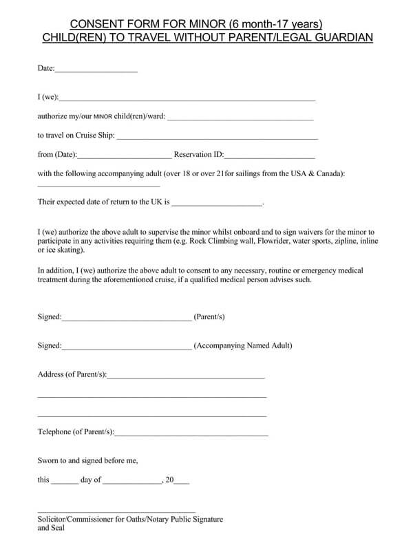 Child-Travel-Consent-Form-Notary