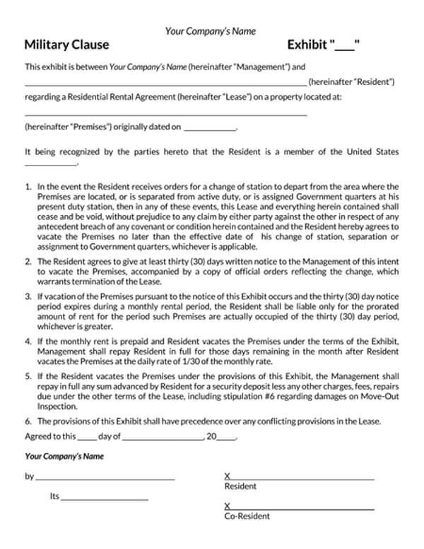Company-Military-Clause-Addendum-Form_
