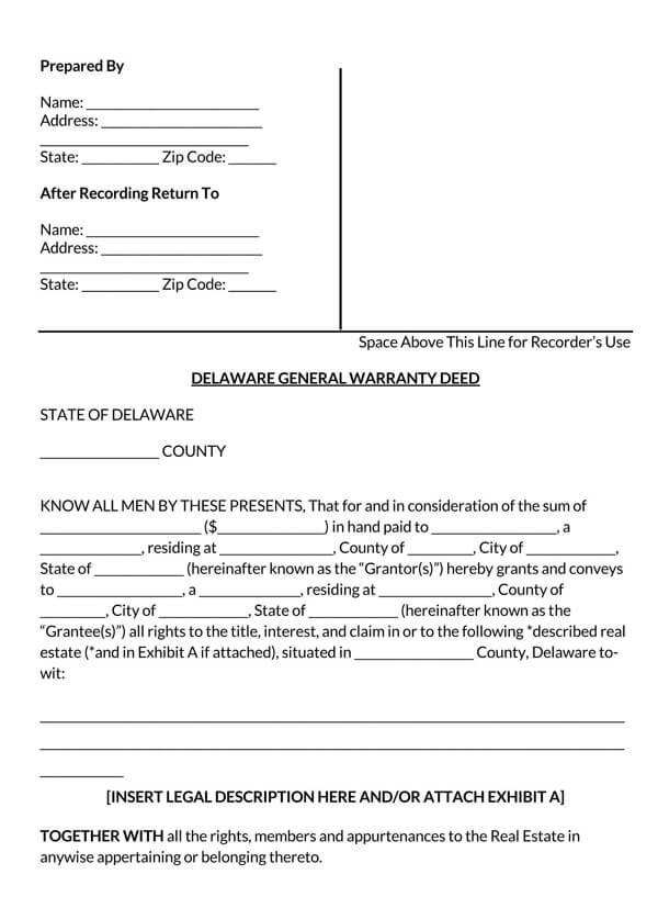Delaware-General-Warranty-Deed-Form