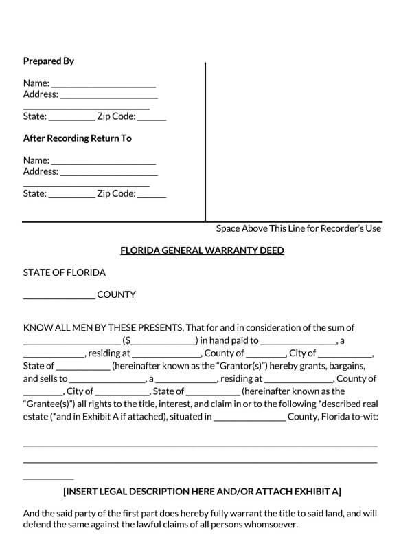 Florida-General-Warranty-Deed-Form