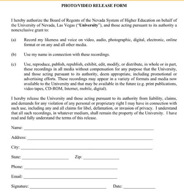 Media-Photo-Release-Form