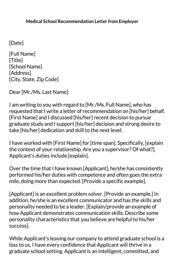 Medical-School-Recommendation-Letter-from-Employer_