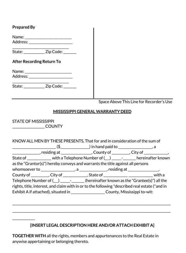Mississippi-General-Warranty-Deed-Form