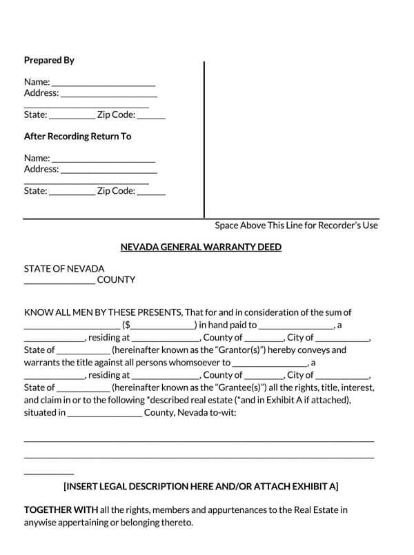 Nevada-General-Warranty-Deed-Form