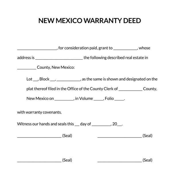 New-Mexico-Warranty-Deed-Form