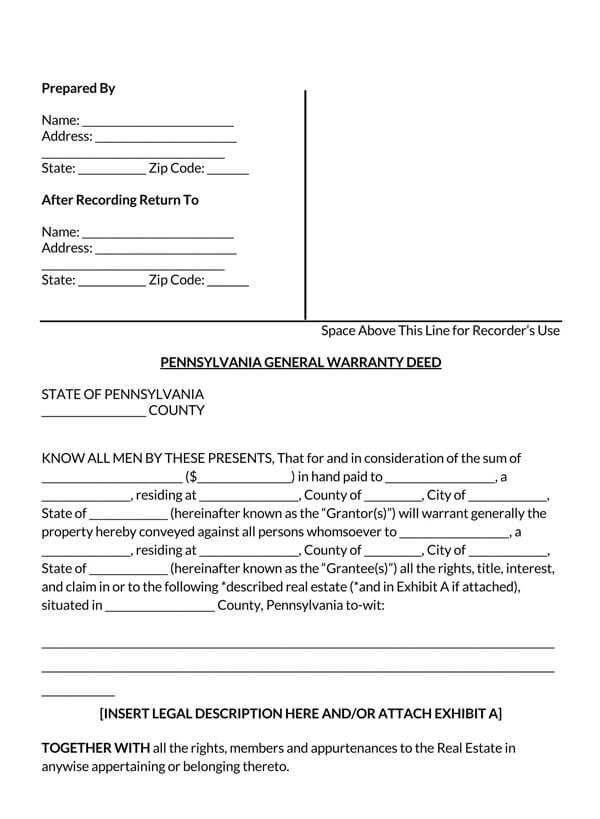 Pennsylvania-General-Warranty-Deed-Form