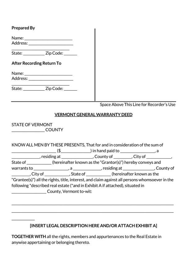 Vermont--General-Warranty-Deed-Form