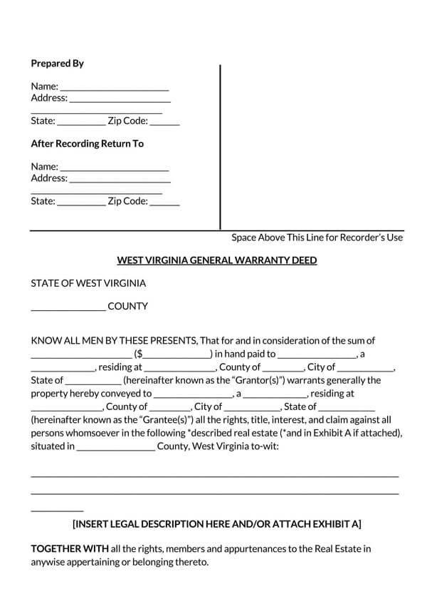 West-Virginia-General-Warranty-Deed-Form