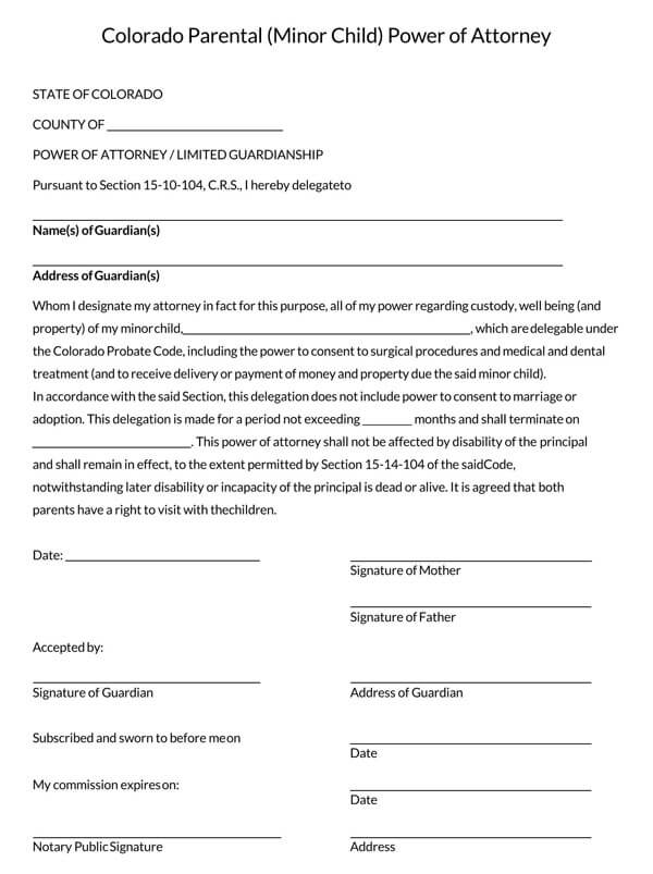 Colorado-Power-of-Attorney-Form