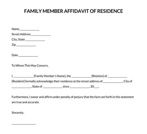 Family-Member-Affidavit-of-Residence-Letter_