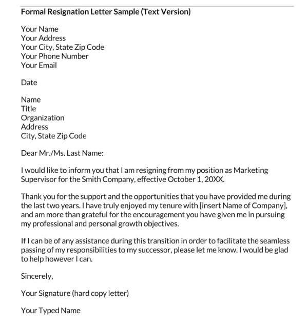Formal-Resignation-Letter-Sample