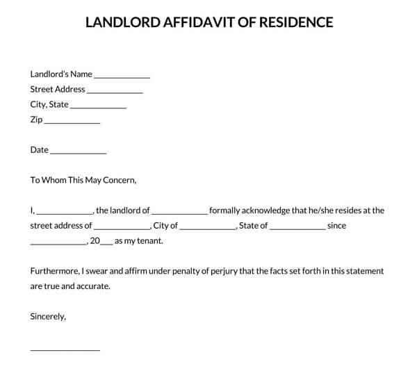 Landlord-Affidavit-of-Residence-Letter
