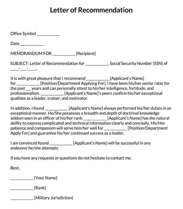 Military-Letter-of-Recommendation-Template_