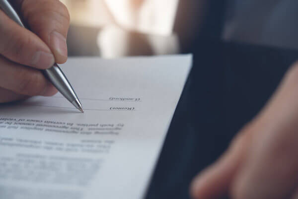 Signing Lease Addendum