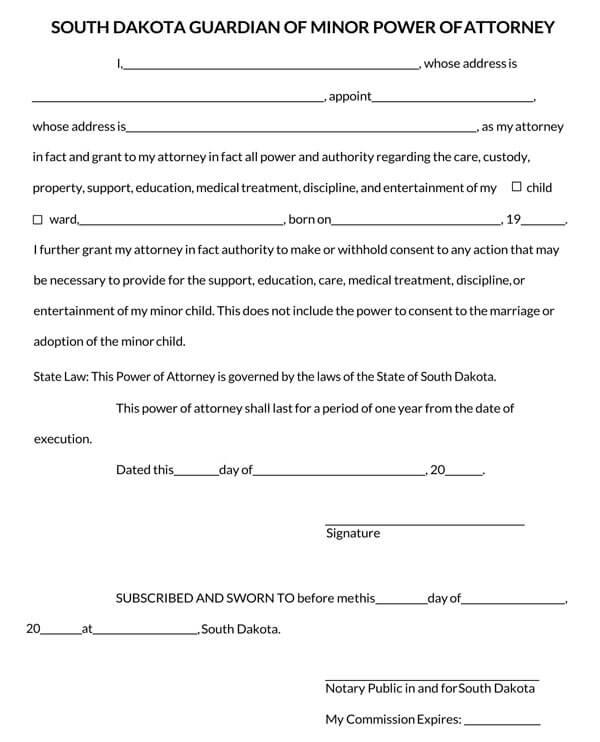 South-Dakota-Power-of-Attorney-Form_